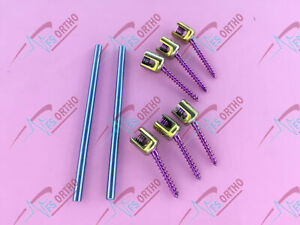 Polyaxial Screw 5 0mm Spine System Pedicle Screw And Rod 8 Pcs Spine Orthopedic