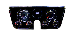 1967 1972 Chevy Truck Analog Gauge Cluster Dash Green Back Lit Limited Edition