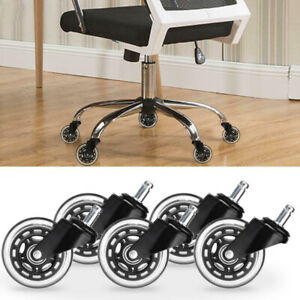 5 20pcs 3inch Office Chair Caster Rubber Swivel Wheels Replacement Heavy Duty Us