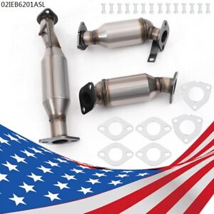 3pcs Set Catalytic Converter Direct Fit 2009 2017 Buick Enclave 3 6l New