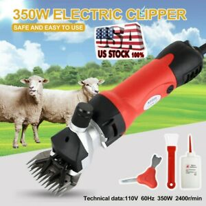 Sheep Goat Shears Clippers Electric Animal Shave Grooming Farm Supplies Us New