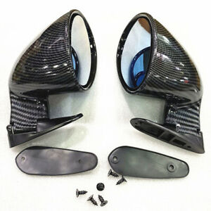 2x Carbon Fiber Look Side Mirrors Rearview Mirrors For Car Suv Truck Universal