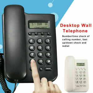 Fsk dtmf Lcd Desktop Home Office Wall Mount Office Corded Phone Caller Telephone