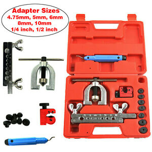 Sae Metric Double Flaring Brake Line Tool Kit With Mini Pipe Cutter Car Truck