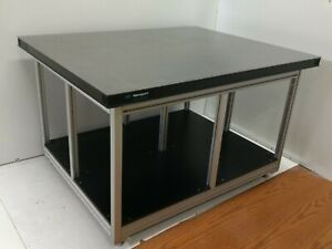 Crated Newport Rg Optical Breadboard Table T slot Bench With Leveling Feet