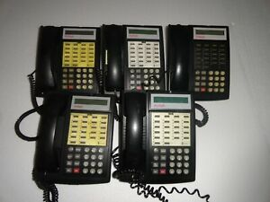 4 Avaya Partner 18d Series 6 Black Phones 1 Merlin Etr18d Working