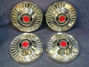 Nos Set Of 4 Vintage Original 1954 Packard Clipper Hubcaps