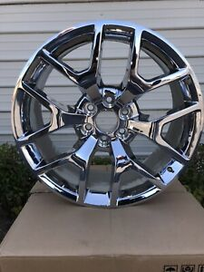 22 Inch Gm Chrome Wheels New Truck Take Offs Set