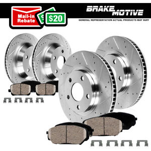 Front Rear Brake Rotors Ceramic Pads For 06 2006 Bmw 330xi 330i E90 Awd Rwd