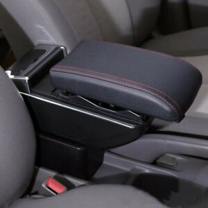 Universal Leather Armrest Box Car Center Console Armrest Storage Container Box