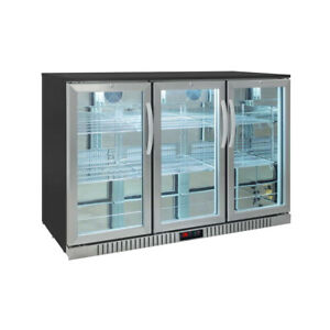 Procool Residential 3 door Stainless Steel Back Bar Beverage Cooler Home Bar