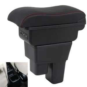 For Honda Fit Jazz 2009 2013 Armrest Box Seat Storage Box Consoles Double Layer