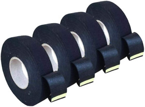 4 Rolls Wire Loom Harness Tape Wiring Harness Cloth Tape Black Adhesive Fabric
