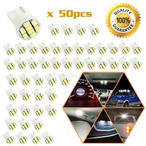 50x Pure White Parking Backup High Mount Stop T10 Wedge Led Light W5w 192 168