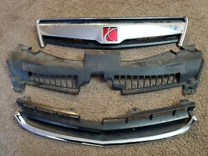 2008 2009 2010 Saturn Vue Grill Grille With Hood Silver Panel 08 09 10