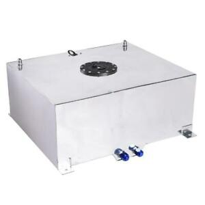 20 Gallon Universal Fuel Cell Gas Tank Aluminum Polished Race With Level Sender