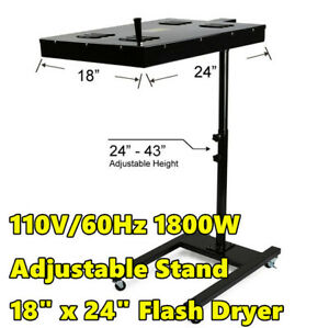 18 X 24 Flash Dryer Screen Printing T shirt Curing Equipment Adjustable Stand