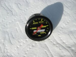 New Gauge Blowout Black Liquid Filled Nitrous Race Connection Pressure Gauge