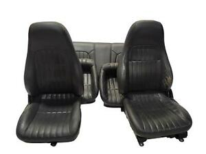 2000 Chevy Camaro Coupe Front Rear Seats Seat Black Leather Power Lh Manual Rh