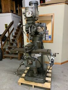 Bridgeport Milling Machine Variable Speed 1 1 2 Hp see Video