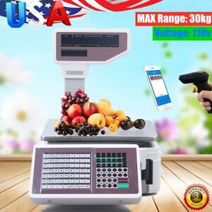 Digital Scale Price Computing Deli Electronic Counting Max Range 30kg Commercial