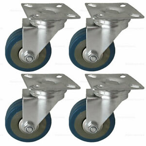 4 Pack 2 Caster Wheels Swivel Plate Casters