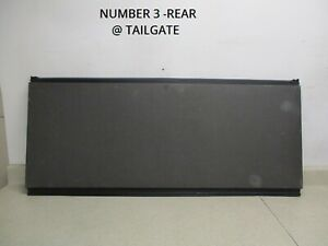 02 To 06 Avalanche Ext Rear 3 Bed Hard Tonneau Cover Oem 93440207 93440643