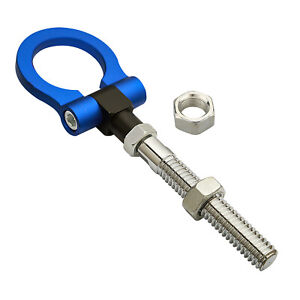 Sprots Blue Folding Ring Tow Hook For Jeep Renegade Patriot Cherokee Wrangler