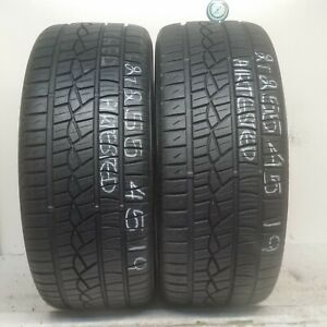 2 Tires 255 45 19 Continental Purecontact 100v 70 88 Tread No Repairs