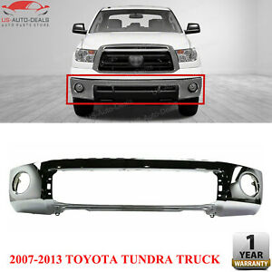 Front Bumper Cover Chrome Steel For 07 2013 Toyota Tundra Truck Standard Pickup