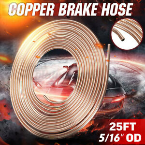 Copper Brake Fuel Trans Line Pipe Hose Tubing Kit Coil Roll Of 5 16 Od 25 Foot