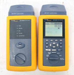 Fluke Dsp 4000 Cat6 Cable Tester With Dsp 4000sr Smart Remote Adapters