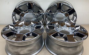 Chevy Silverado Gmc Sierra 2500 3500 18 Oem Chrome Wheels Part 5702
