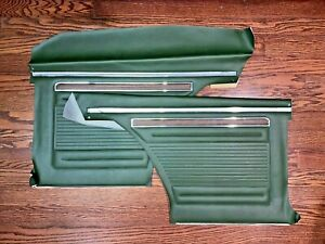 70 72 Nova Dark Green Rear Door Panels Pair