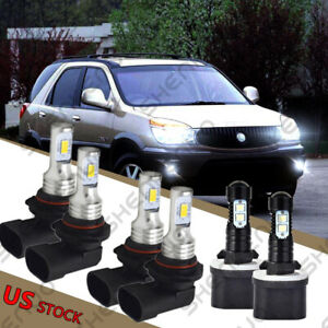 9005 9006 880 Led Headlight Fog Light Bulbs Kit For Buick Rendezvous 2002 2007