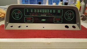 1964 1965 1966 Chevy Truck Instrument Gauge Cluster Panel