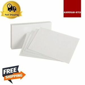 Blank Index Cards 4 X 6 White 100 Per Pack