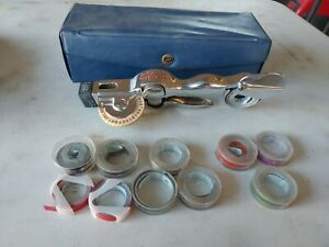 Vintage Dymo Mite Tapewriter Model M 3 Embossing Tool And 11 Rolls