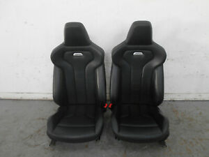 2015 14 16 17 18 Bmw M3 F80 Leather Heated Power Sport Front Seats 6099