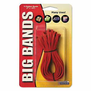 Big Bands Rubber Bands Size 117b 0 06 Gauge Red 12 pack 00700 00700 1