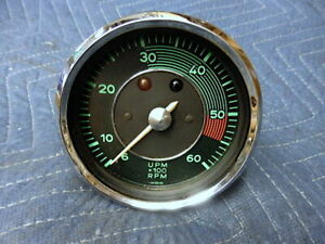 Porsche 356 Genuine Vdo Mechanical Tachometer 5500 Red Line Nice Condition