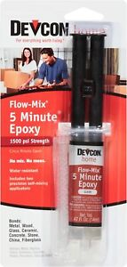 Devcon Home 5 Minute Flow mix 14 Ml Clear Syringe Fast Drying Epoxy 20445