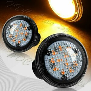 For 03 12 Range Rover L322 Clear Lens Amber Led Turn Signal Side Marker Lights