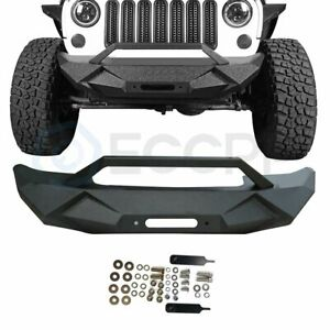 Vengeance Series Steel Front Bumper Guard For Jeep Wrangler Jk 07 18 Textured