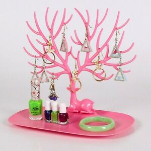 3 Pcs Antlers Jewelry Tree Branches Necklace Display Rack Bracelet Showing Stand