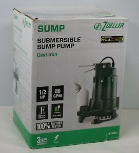 Zoeller Submersible Sewage Pump 1 2 Hp 80 Gpm 1096 Cast Iron brand New