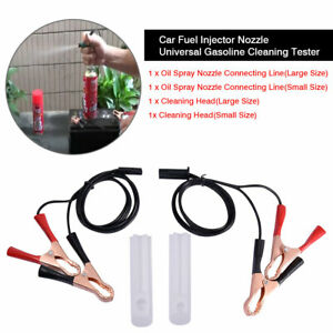 Fuel Injector Flush Cleaner Adapter Cleaning Tool Diy Kit Set For Car Motorcycle