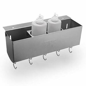 Stainless Steel Griddle And Bbq Caddy For Blackstone Griddles Storage 5 S hooks