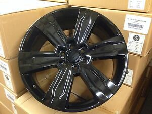 4 F150 Platinum 22x9 Gloss Black Oe Replica Ford Wheels 6x135 Truck Factory