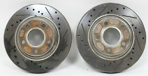 98 2002 Camaro Ss Z28 Firebird Trans Am Ws6 Front Drilled Slotted Rotors Used